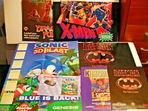Details about VINTAGE SEGA GENESIS VIDEO GAME POSTERS AND ADVERTS (8 items  ) FREE SHIP/GIFT