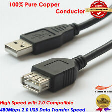 Hi-Speed USB 2.0 Cable Type A Male to Type A Female Extention Cord - 3FT/0.92M