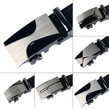Luxury Leather Men's Automatic Buckle Fashion NO Waist Strap Belt Waistband
