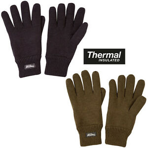 Mens-Army-Military-Thermal-Extreme-Winter-Knitted-Gloves-Warm-Black-Green-New