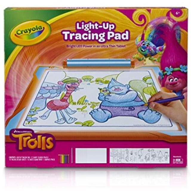 Craft Kits Crayola Trolls Light-up Tracing Pad, Coloring Board For Kids,  Gift, 9