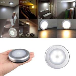 Inalambrico-Lampara-Mesilla-Movimiento-PIR-Auto-Sensor-6-LED-luces-con-pilas