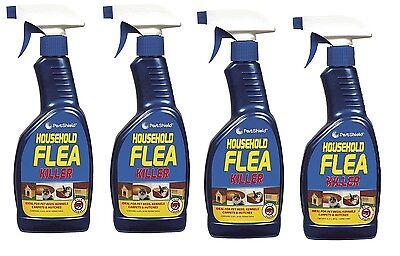 4 X 500ml Household Flea Killing Spray For Cat Dog Bed