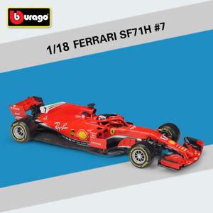 BBURAGO-1-18-2018-Ferrari-F1-SF71H-7-Kimi-Raikkonen-Racing-Car-Diecast-Model