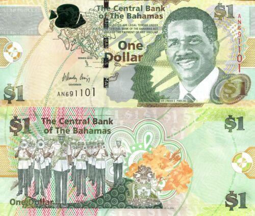 BAHAMAS 1 Dollar Banknote World Paper Money Currency Caribbean Pick p-71A Bill