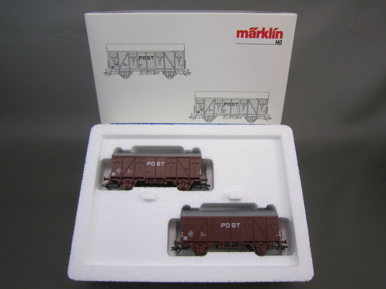 Marklin HO Scale 46271 NS Conjunto De Coche de Cochega mercancías cubierto de Post