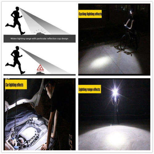 DEL Head Torch blusmart Projecteur Rechargeable USB Cree Phare Camping Running