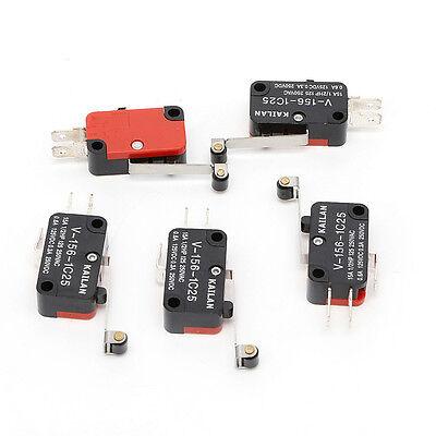 100pcs Micro Switch Spdt Hinge Roller Lever 15A V-156-1C25