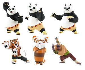 official bullyland comansi kung fu panda figures figurines toy cake toppers ebay. Black Bedroom Furniture Sets. Home Design Ideas