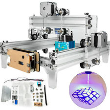 15000mw Mini Laser Engraver Cnc Machine 19x13cm Rgbl For Wood Leather Plastic Us