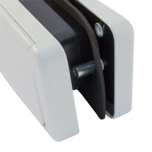 """12/"""" Inch Sprung Letter Box Fab Fix 40//80 Chrome UPVC Wood Doors Letterbox Plate"""