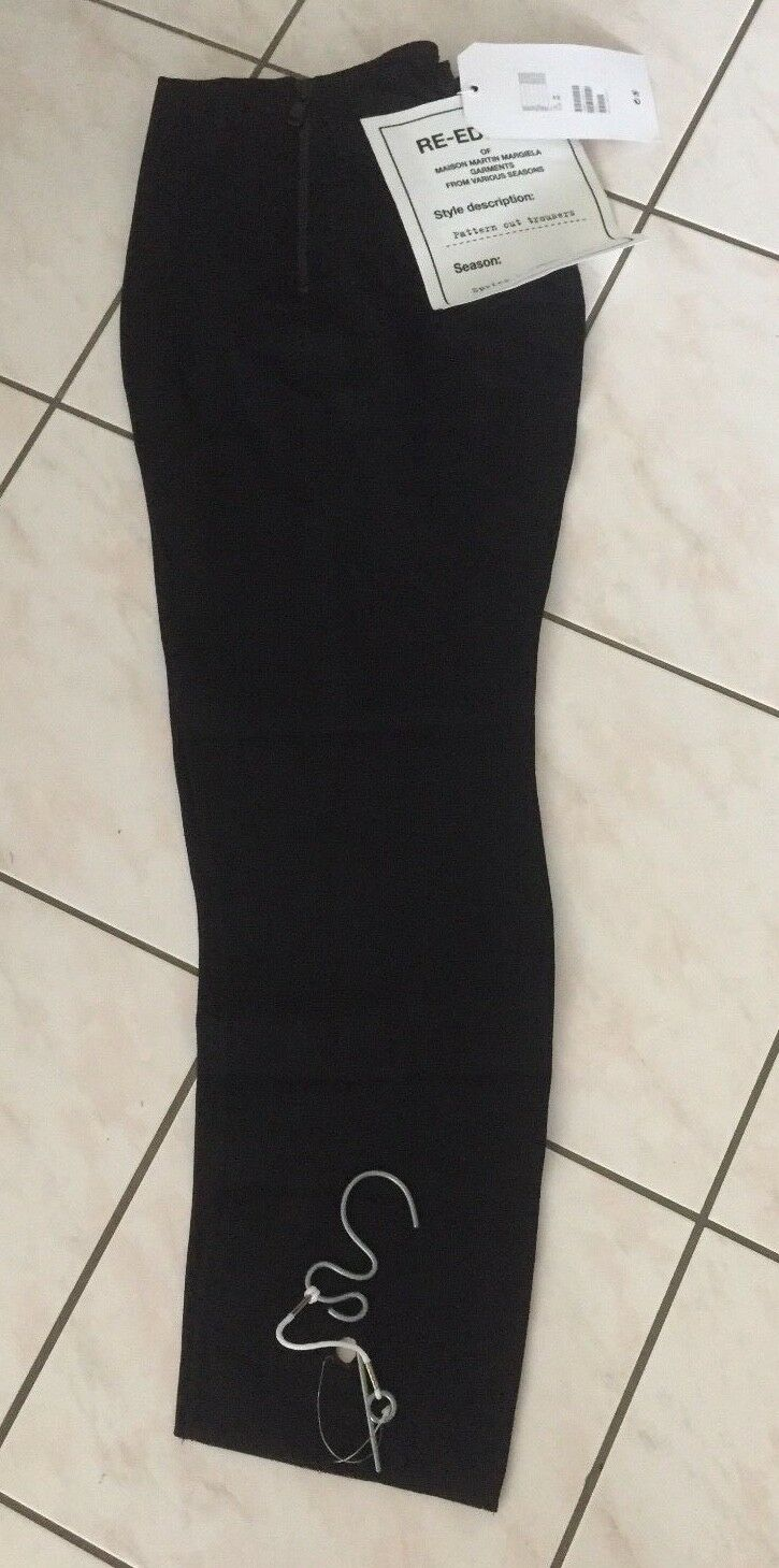 Maison Martin Margiela H&M Hose Pattern Cut Trousers black US 12