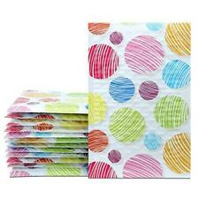 Ucgou Bubble Mailers 4x8 Inch Colorful Dot 50 Pack Poly Padded Envelopes Small