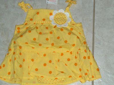 "NWT - Gymboree ""Daisy Giraffe"" one pc yellow skirted shorts romper - 0-3 mos"