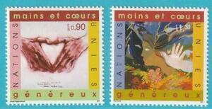 Efficace Onu-genève De 2001 ** Cachet Minr. 413-414 Peintures-afficher Le Titre D'origine Pour Assurer Une Transmission En Douceur