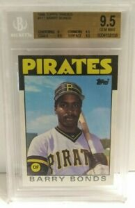 Barry-Bonds-1986-Topps-Traded-Rookie-RC-11T-Pirates-BGS-9-5-Gem-Mint-MLB