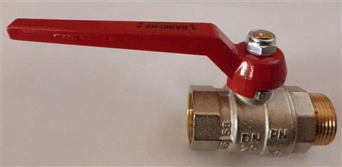 BASIC Hochtemperatur Kugelhahn bis 200°C mit langen Griff verschiedene Größen