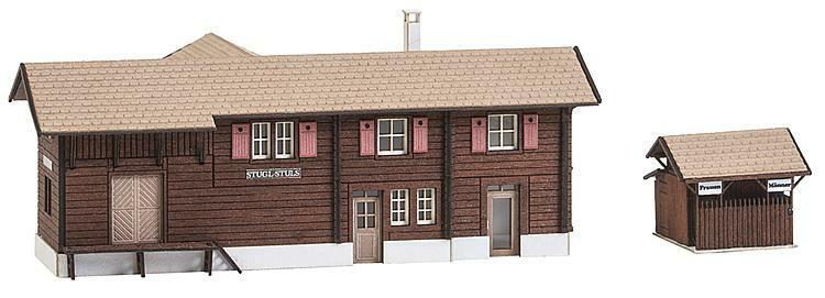 Faller N 212120 Gare Stugl-Stulles avec Maison Toilette 106x62x45+26x27x21mm