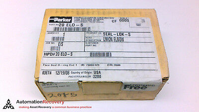 "Pipe Objective Parker 20 Elo-s Seal Lok Union Elbow 1-1/4"" New #210321"