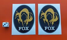 Metal Gear Solid  Fox Hound sticker decal 90mm x 65mm x2 xbox one play station