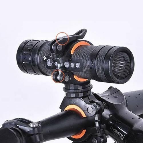 Bicycle Torch Clip Mount Flashlight Holder Bike Clamp Light Bracket No-slip S