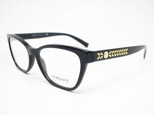 3243d153b4a0 New Authentic Versace VE 3265 GB1 Black Eyewear Eyeglasses 54mm Rx ...