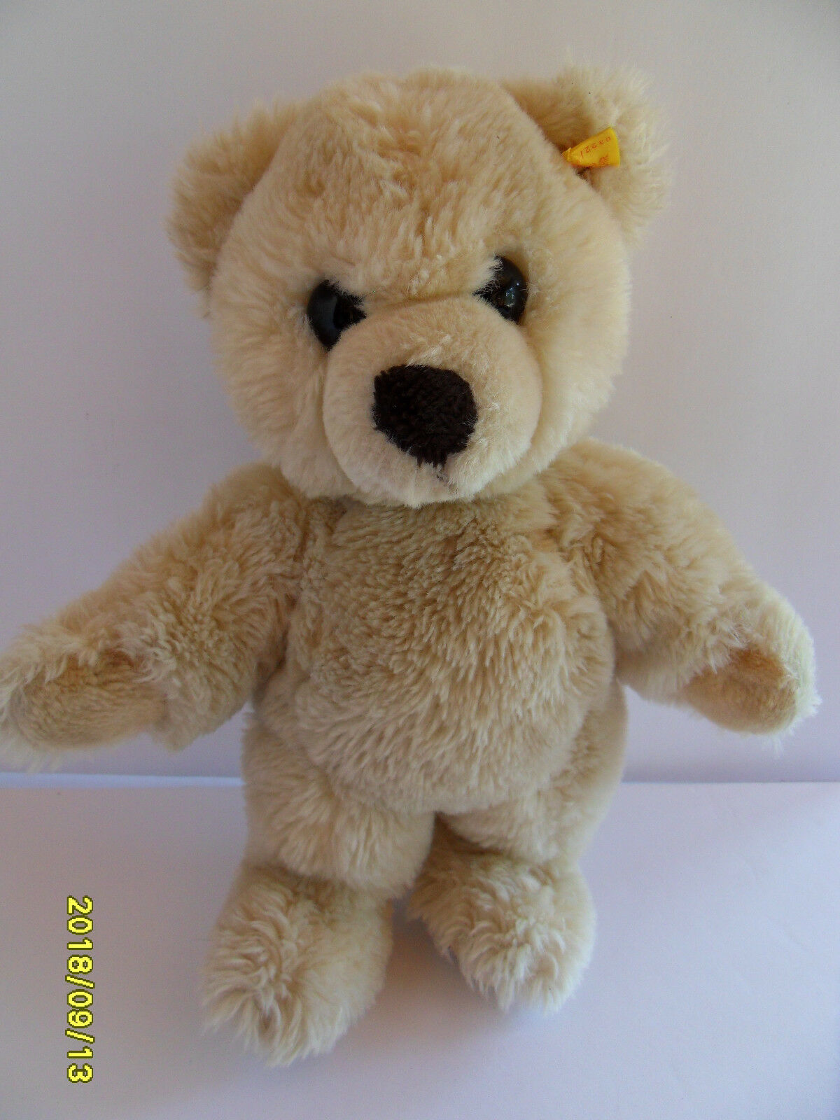Steiff bear Teddy bear cream large button  stuffed animal made in Germany 2606