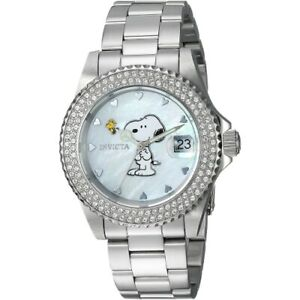 Invicta-24808-Snoopy-Limited-Edition-Stainless-Steel-Bracelet-Women-039-s-Watch