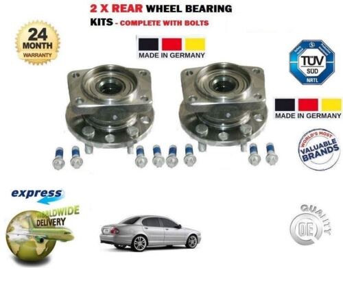FOR JAGUAR X TYPE 2.5 2.2D 3.0 V6 2001-2009 NEW 2X REAR WHEEL BEARING HUB KIT