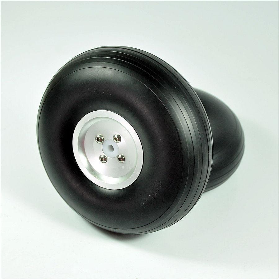 1pair 8.5 /216mm PU wheel w/ Dia-Casting Aluminum Hub w/ Screw for RC Airplane