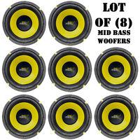Lot Of (8) Pyle Plg64 6.5 300 Watt, 4 Ohm, Mid Bass Woofers, Car Audio System