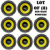 Lot Of (8) Pyle Plg64 6.5 300 Watt, 4 Ohm, Mid Bass Woofers, Car Audio System on sale