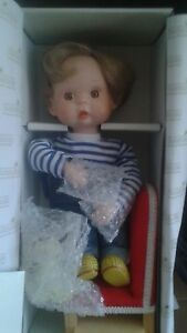 "Dolls & Bears Dolls, Clothing & Accessories Nib~ashton-drake~11"" Porcelain Doll~tomorrow Is Another Day~coa~chair~stand"