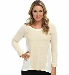 KUT-from-the-Kloth-Jasmine-Colorblock-Sweater-Top-Gold-Tan-Size-XL