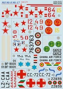 Print Scale Decals 1/72 Mil Mi-8 Mi-17 #72311