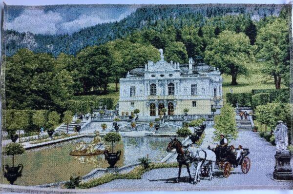 Effizient Gobeline Panel Schloss Linderhof Pferde Bild Ohne Rahmen Ca. 50x33 Cm Neu Verpackung Der Nominierten Marke