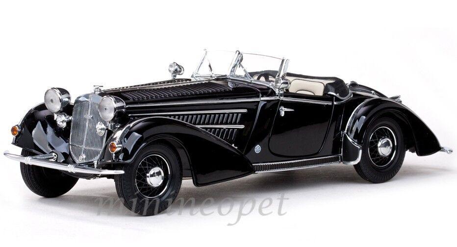 SUN STAR 2401 1939 39 HORCH 855 ROADSTER 1 18 Diecast Noir