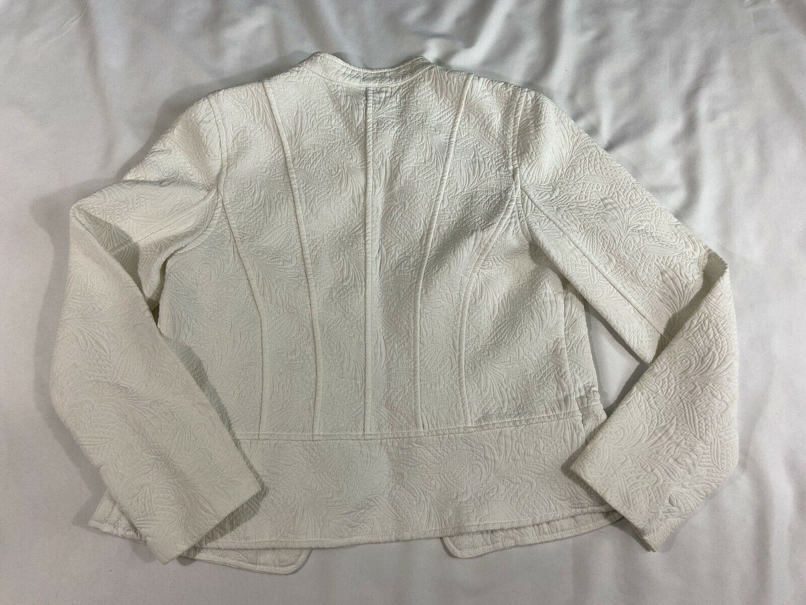 Christopher and Banks Ivory button up Jacket/blaz… - image 2
