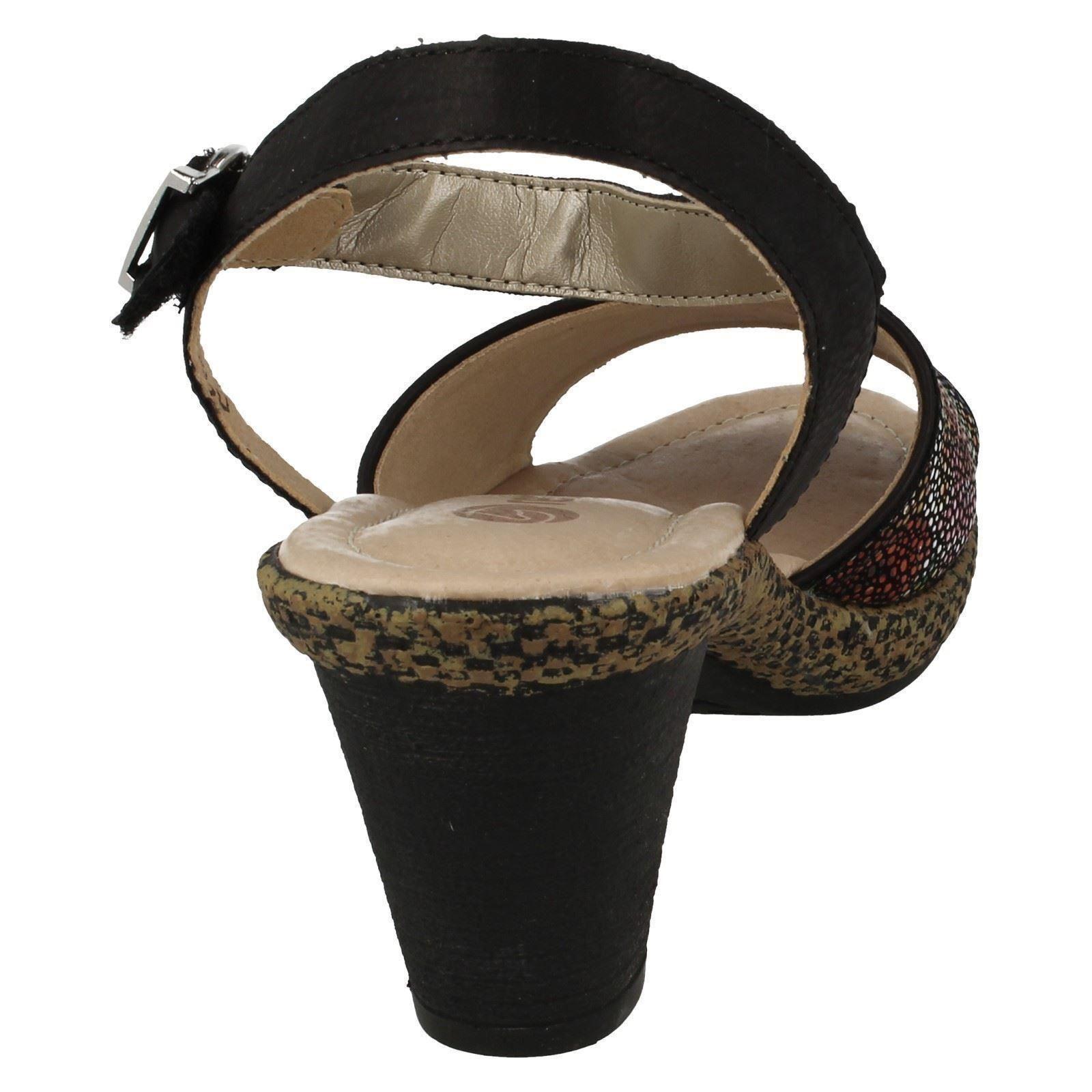 Donna Nero Multi Remonte Sandali con tacco tacco tacco d1051 0e3b86