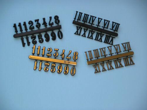 Plastic Clock numbers 25mm High