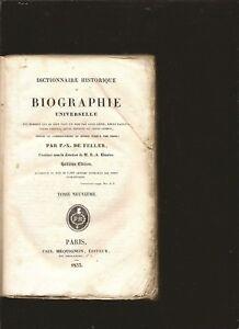 Biographie-universelle-ou-Dictionnaire-historique-TOME-9-F-X-DE-FELLER-Annee1832