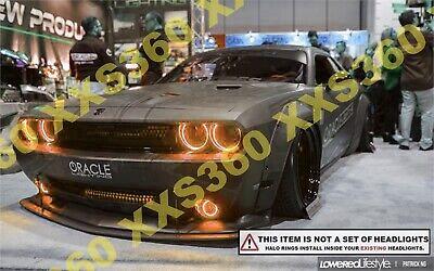 SMD LED Halo Head Fog Light Complete Set Red Demon Eyes fits Dodge Challenger