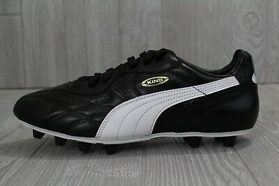 42 PUMA King Top DI FG Leather Soccer Cleats Black White 8-14 170115 01 |  eBay