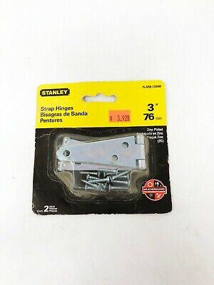 """Stanley 2/"""" Strap Hinges Zinc Plated 2 PCS WeatherGuard 14-0160//DP900 NIB"""