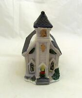 Christmas Village Country Town Church House Holiday Snow Decor Mini Ceramic Town