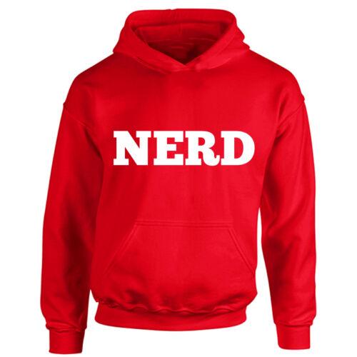 Old School Hipster Cool Geek Kids Nerd Hoodie Funny Boys /& Girls Hooded Top