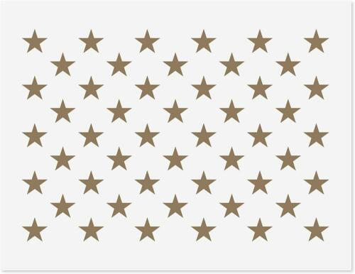 10.5 X 14.82 Mylar Template For American Flag10.5 X 50 Star Stencil For Flag