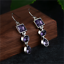 925-Silver-Amethyst-Square-Round-Pear-Drop-Dangle-Hook-Earrings-Jewelry-Gift thumbnail 7