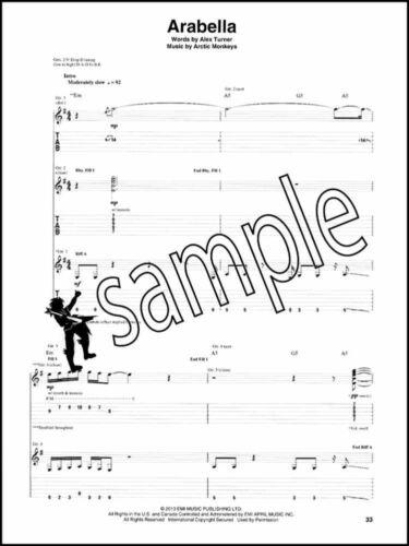 Arctic Monkeys AM Guitar TAB Music Book Guitar Recorded Versions