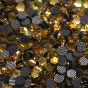 iron-on-250-Strass-thermocollants-Taille-s-06-2-mm-Coloris-n-113-gold-TOPAZE